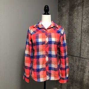 Northface Plaid Button Down Long Sleeve Shirt